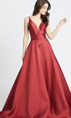 Mac Duggal Red Size 16 Train Ball gown on Queenly