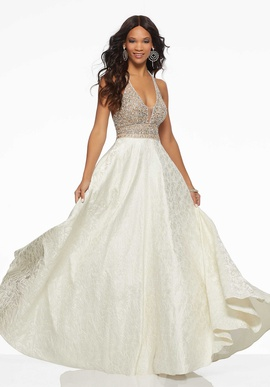 Mori Lee Gold Size 6 Pockets Beaded A-line Dress on Queenly