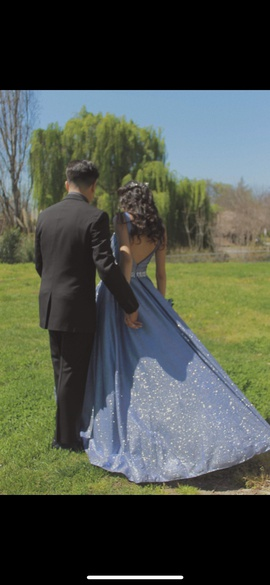 aspeed Blue Size 2 Backless Shiny Pockets Lime Ball gown on Queenly