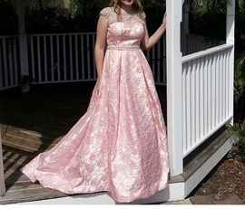 Sherri Hill Pink Size 4 Prom Tall Height Ball gown on Queenly