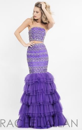 Rachel Allan Purple Size 2 Mermaid Dress on Queenly