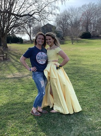 Sherri Hill Yellow Size 4 Side slit Dress on Queenly