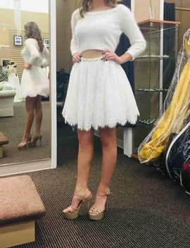 Sherri Hill White Size 6 Cocktail Dress on Queenly