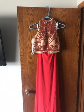 Sherri Hill Red Size 0 Two Piece A-line Dress on Queenly