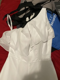White Size 8 Romper/Jumpsuit Dress on Queenly