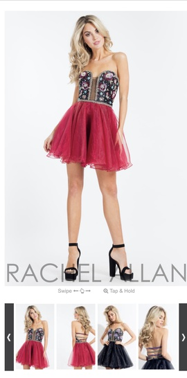Queenly size 6 Rachel Allan Red Cocktail evening gown/formal dress