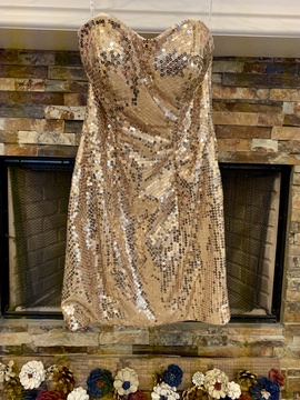 Queenly size 6  Gold Cocktail evening gown/formal dress