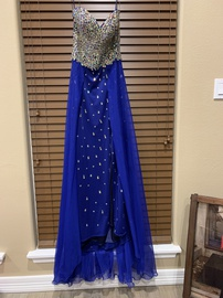 Queenly size 2 Ritzee Blue A-line evening gown/formal dress