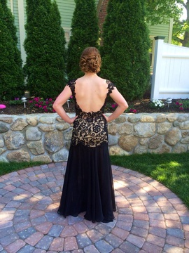 Mac Duggal Black Size 6 Side Slit Ball gown on Queenly
