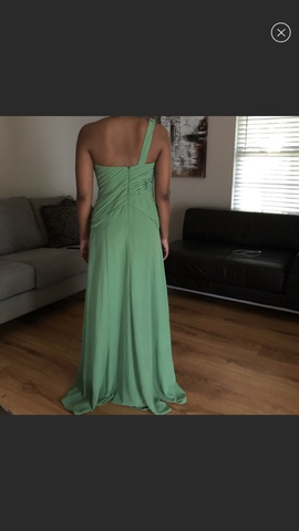 David's Bridal Green Size 6 Wedding Straight Dress on Queenly