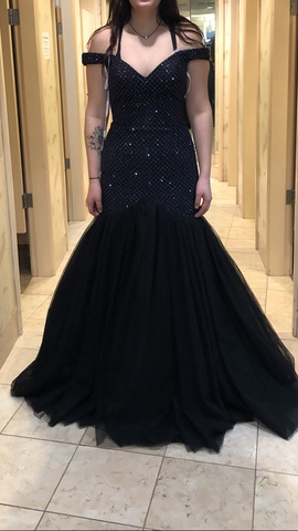 Queenly size 8  Black Mermaid evening gown/formal dress