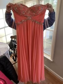 Orange Size 20 Straight Dress on Queenly