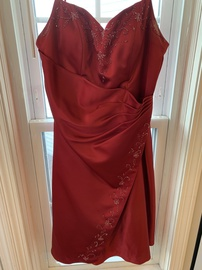 Queenly size 14  Red Cocktail evening gown/formal dress