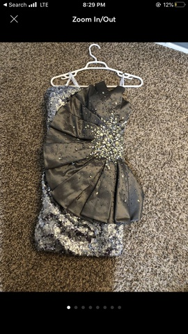 Queenly size 12 Tony Bowls Silver Cocktail evening gown/formal dress