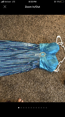 Queenly size 0 Tiffany Designs Blue Straight evening gown/formal dress