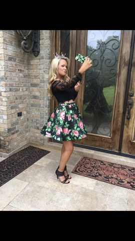 Sherri Hill Black Size 0 Two Piece Cocktail Dress on Queenly