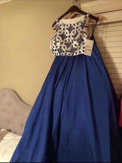 Style 50107 Blue Size 2 Ball gown on Queenly