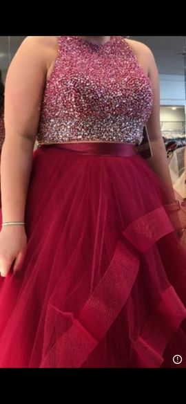 Queenly size 12 Jovani Pink Ball gown evening gown/formal dress