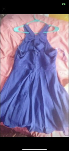 Macys Blue Size 12 Homecoming Plus Size Straight Dress on Queenly