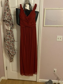 Queenly size 14  Red A-line evening gown/formal dress