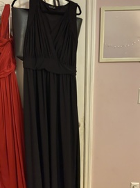 Queenly size 18  Black A-line evening gown/formal dress