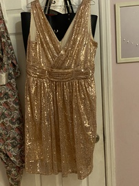 Gold Size 18 Cocktail Dress on Queenly