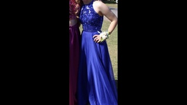 Queenly size 0 Sherri Hill Blue Straight evening gown/formal dress
