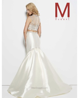 Mac Duggal White Size 6 Prom Wedding Two Piece Mermaid Dress on Queenly