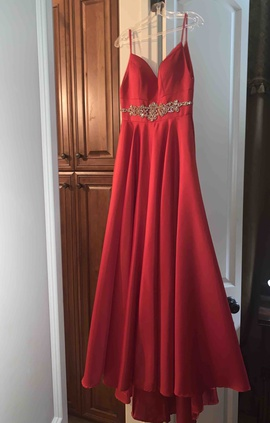 Queenly size 2 Angela & Alison Red Ball gown evening gown/formal dress