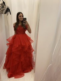 Sherri Hill Red Size 2 Ball gown on Queenly