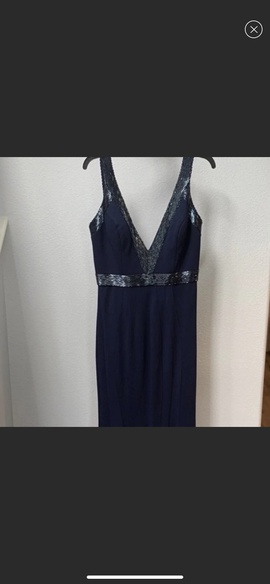 Jovani Blue Size 12 Navy Mermaid Dress on Queenly