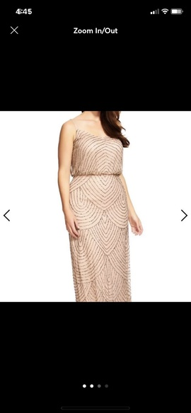 Queenly size 12 Adrianna Papell Gold Straight evening gown/formal dress
