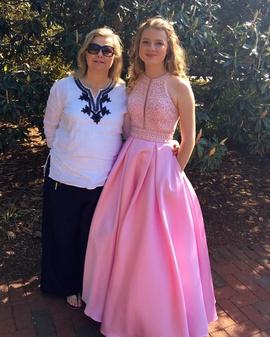 Rachel Allan Pink Size 2 Pockets Halter Sequin Ball gown on Queenly