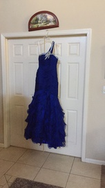 Jovani Blue Size 6 Custom Mermaid Dress on Queenly
