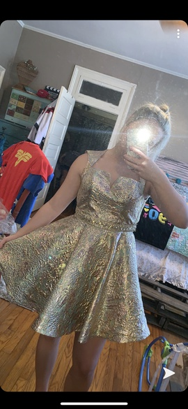 Sherri Hill Multicolor Size 4 Homecoming Cocktail Dress on Queenly