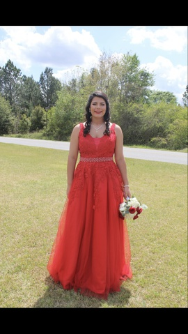 Queenly size 12 Jovani Red Ball gown evening gown/formal dress
