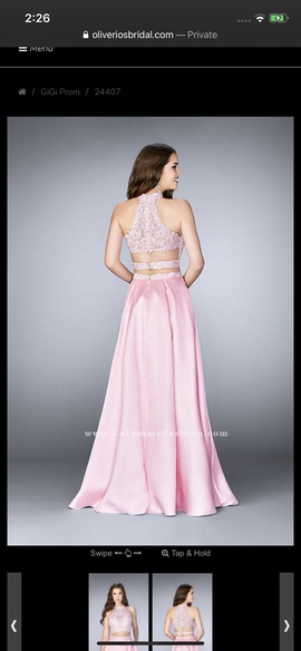 La Femme Pink Size 0 Two Piece Straight Dress on Queenly
