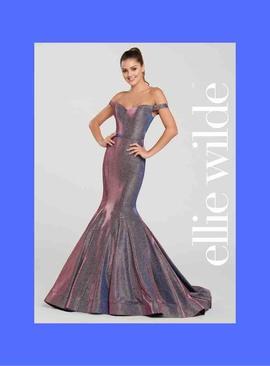 Ellie Wilde Purple Size 4 Mermaid Dress on Queenly