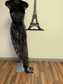 Alyce Paris Black Size 6 Pageant Sequin Side slit Dress on Queenly