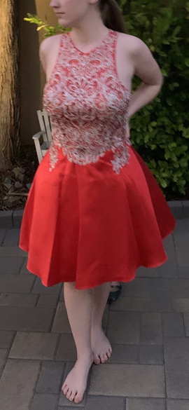 Red Size 4 A-line Dress on Queenly