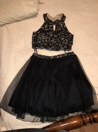 Speechless Black Size 12 Homecoming Plus Size Straight Dress on Queenly