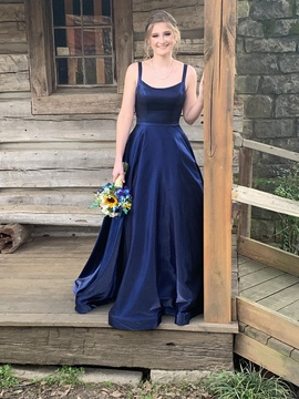 Sherri Hill Blue Size 2 Prom Ball gown on Queenly