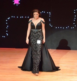 Queenly size 6 Sherri Hill Black Straight evening gown/formal dress