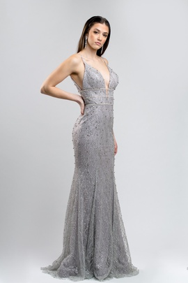 Portia and Scarlett Silver Size 0 A-line Dress on Queenly
