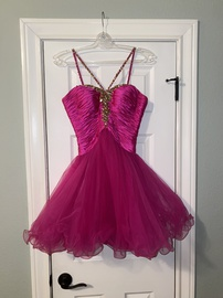 Sherri Hill Pink Size 4 Homecoming Flare Cocktail Dress on Queenly