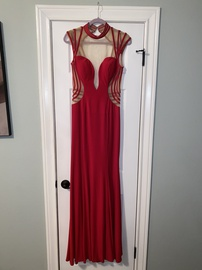 Sherri Hill Red Size 8 Straight Dress on Queenly