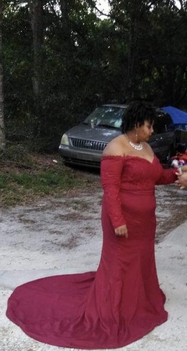 Queenly size 20  Red Train evening gown/formal dress