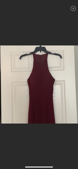 Faviana Red Size 2 Medium Height Side slit Dress on Queenly