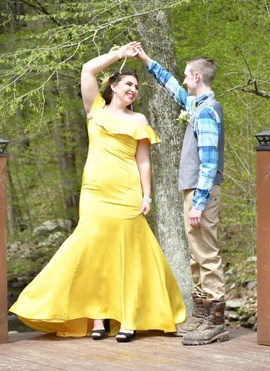 Yellow Size 12 Mermaid Dress on Queenly
