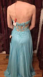 Alyce Paris Green Size 2 Strapless Lace Straight Dress on Queenly